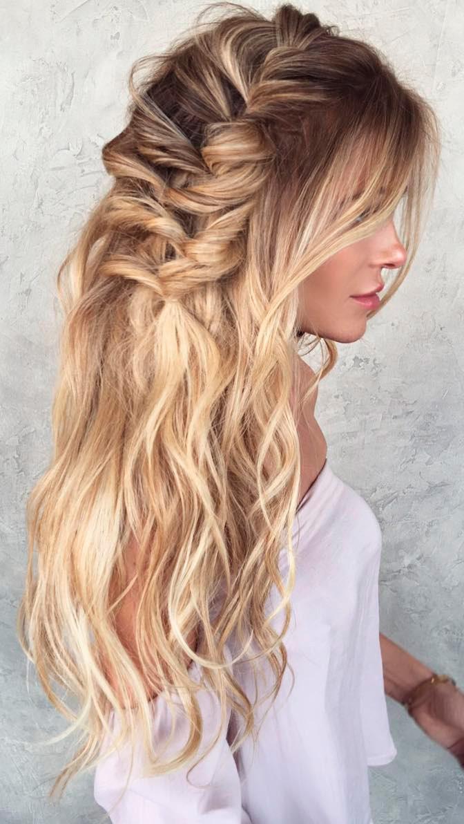 Peinado cabello suelto