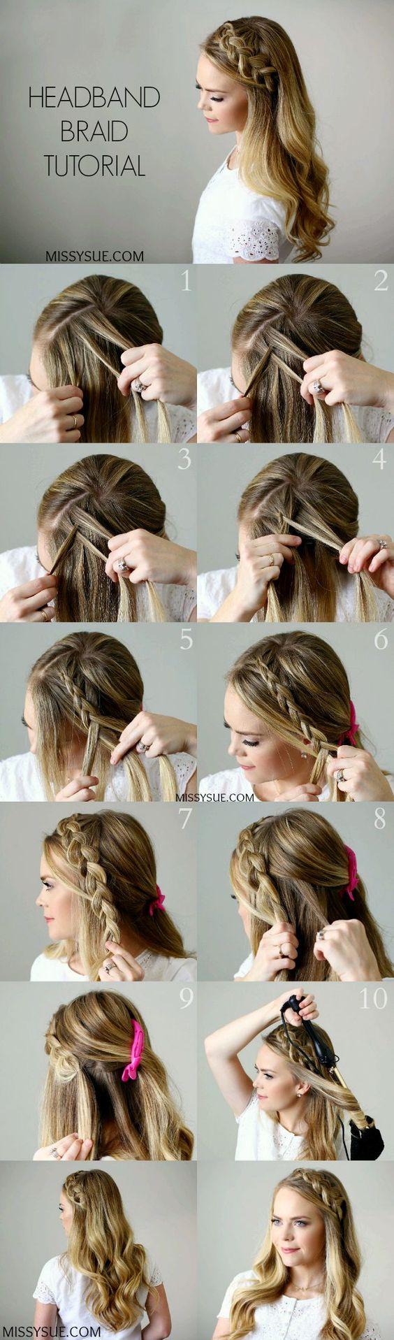 Tutorial Peinado trenza cabello suelto