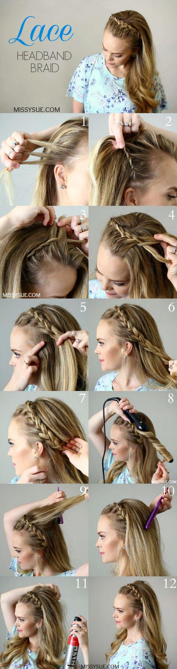 Tutorial peinado trenza diadema