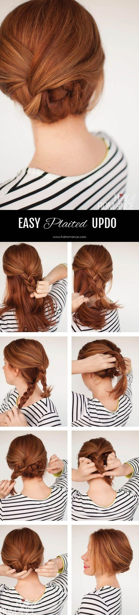 Peinado recogido cabello mediano
