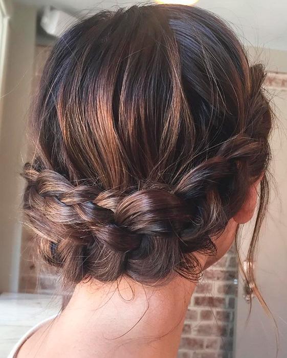 43 peinados para damas de honor e invitadas de la boda - Peinados recogidos con trenzas ...