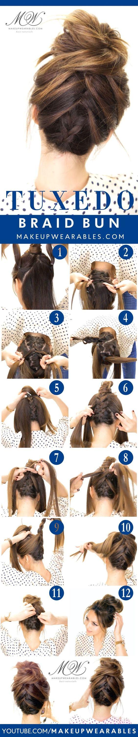 Peinado recogido con trenza
