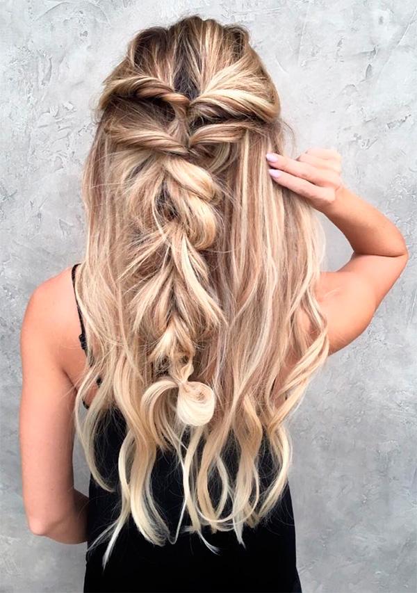 Idea de peinado para dama de honor