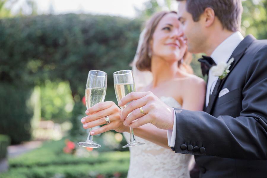 Champagne o Vino espuso para el brindis de la boda