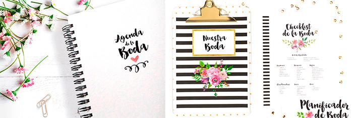 Agenda de bodas e Imprimibles