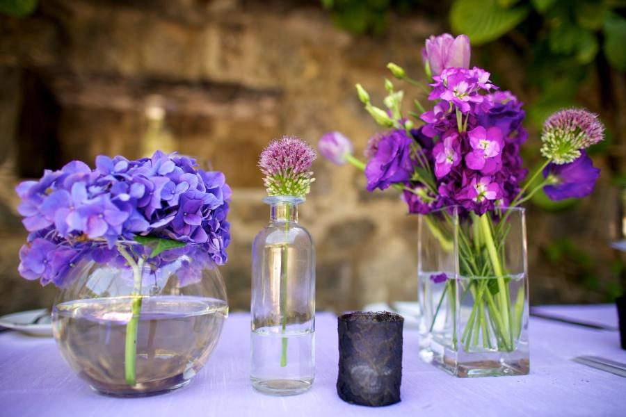 Centros de mesa violet