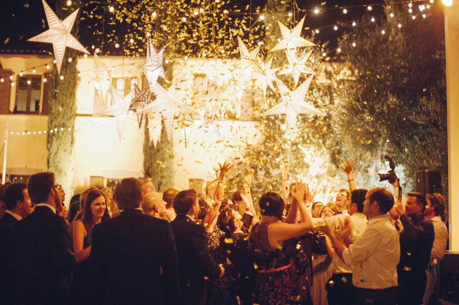 Decoración boda estrellas