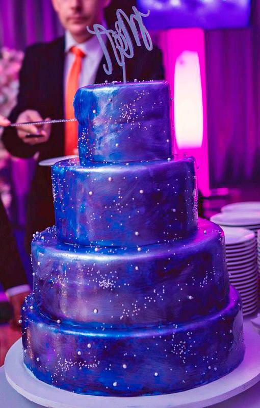 Pastel de boda Estrellas