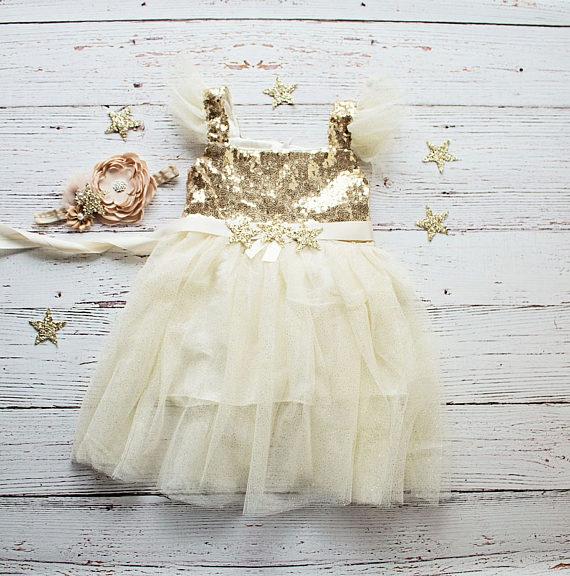 """Vestido para damitas de la boda tema """"Estrellas"""""""