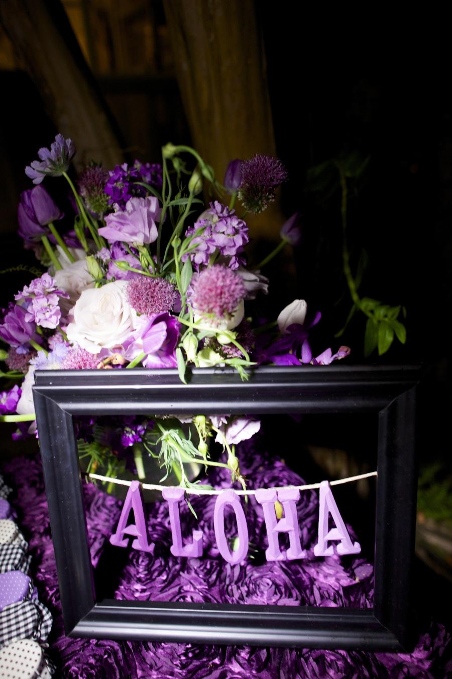 Decoración para Boda en colores púrpura