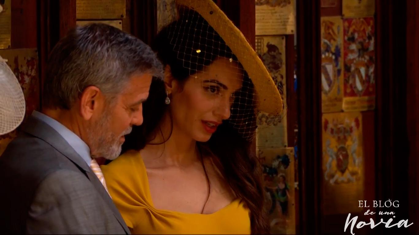 George y Amal en la boda de Harry y Meghan