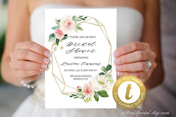 Invitaciones para boda con flores