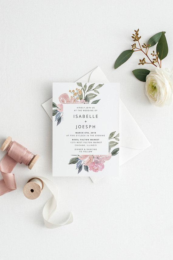 invitacion de boda floral 2018