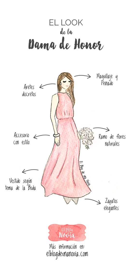 El look de la Dama de Honor